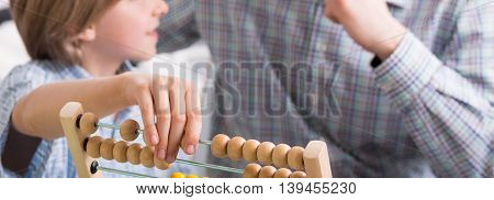 Child Learning Abacus