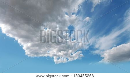 Sky clouds background Blue sky in good weather days.