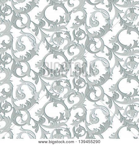 Acanthus leaf ornament pattern . Vector illustration