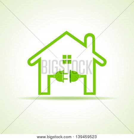Eco home concept with plug and holder stock vector