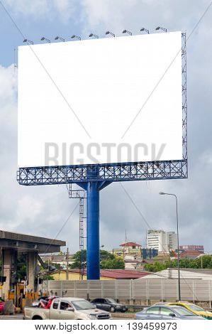 Blank Billboard For Advertisement  In Toll Collecting On The Expressway