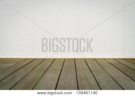 Room with wall and wooden floor
