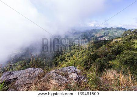 Cliff with Mon Long Mon Cham (Mon Jam) mountain, Mae Rim Chiangmai, Thailand