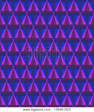 3D Crystal Cone Pattern Purple