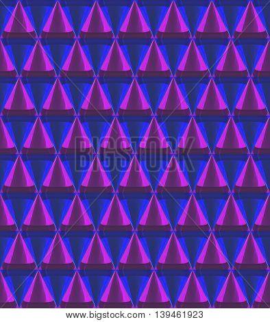 3D Crystal Cone Pattern Purple