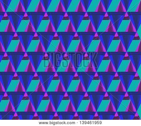 3D Triangle Mix Pattern