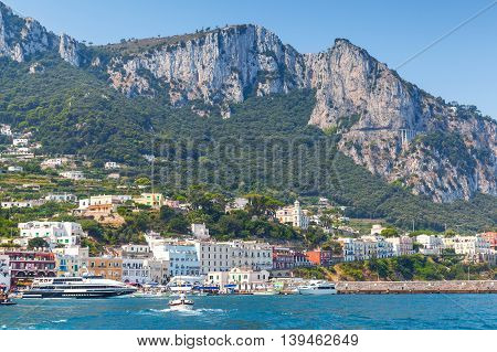 Landscape Of Capri Port