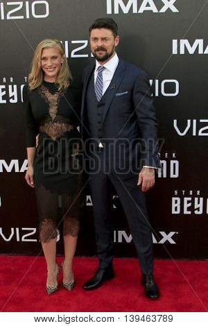 LOS ANGELES - JUL 20:  Katee Sackhoff, Karl Urban at the
