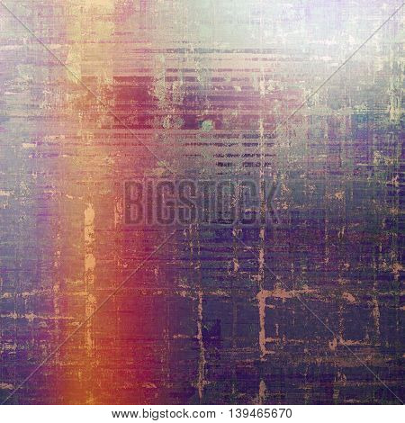 Grunge design composition over ancient vintage texture. Creative background with different color patterns: yellow (beige); gray; blue; red (orange); purple (violet); pink