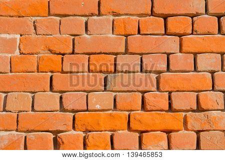 Red Brick Wall Panorama texture  vintage masonry