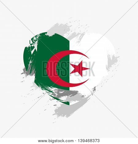 Vector Grunge Flag Of Algeria