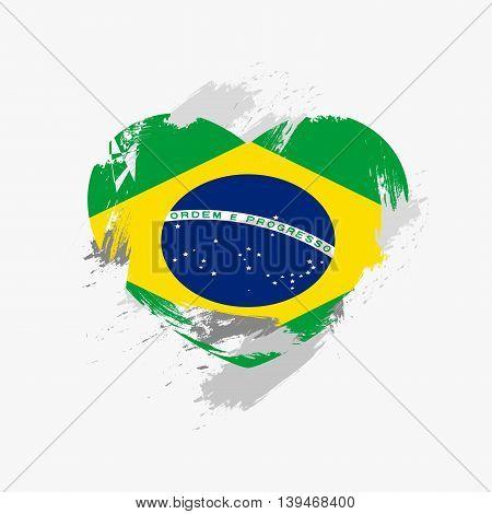 Vector Grunge Flag Of Brazil