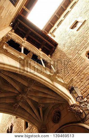 Gothic Architecture in Barcelona Spain Europe.