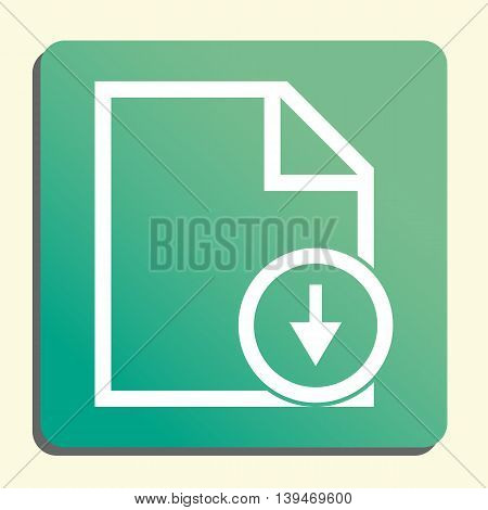 File Down Icon In Vector Format. Premium Quality File Down Symbol. Web Graphic File Down Sign On Gre