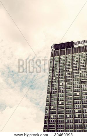 Retro style image of a Building in Downtown Sao Paulo Brazil.