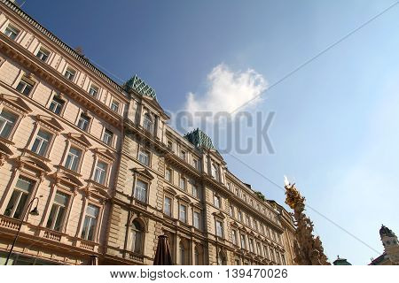 Historic Architecture in the center of Vienna Austria Europe.