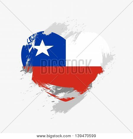 Vector Grunge Flag Of Chile