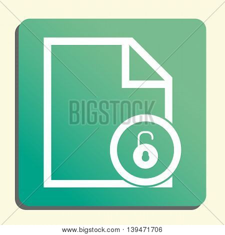 Lock Open Icon In Vector Format. Premium Quality Lock Open Symbol. Web Graphic Lock Open Sign On Gre
