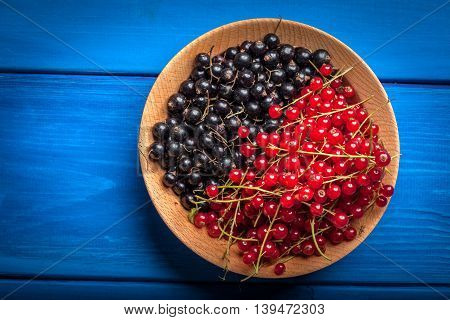 Redcurrant And Blackcurrant In Bowl.