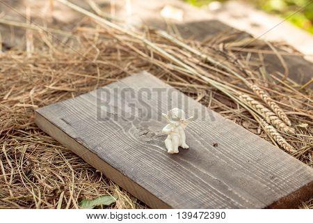 Angel On Wooden Board