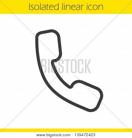Phone linear icon. Telephone thin line illustration. Phone receiver contour symbol. Vector isolated outline drawing