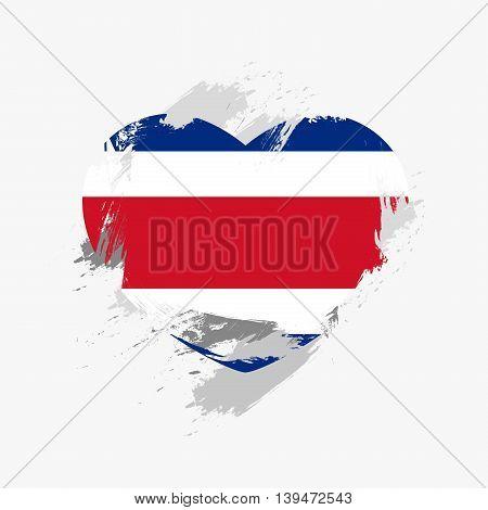 Vector Grunge Flag Of Costa Rica