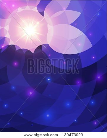 Abstract background with realistic flare. Vector illustration.
