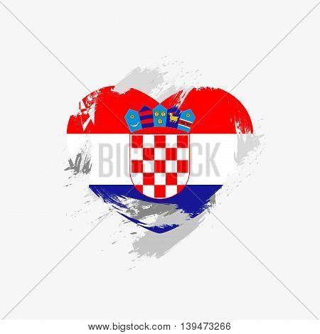 Vector Grunge Flag Of Croatia