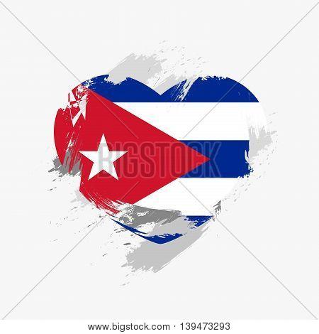 Vector Grunge Flag Of Cuba