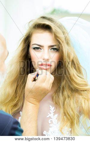 Pretty Woman In Veil