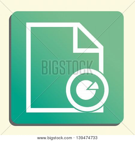 File Pie Icon In Vector Format. Premium Quality File Pie Symbol. Web Graphic File Pie Sign On Green