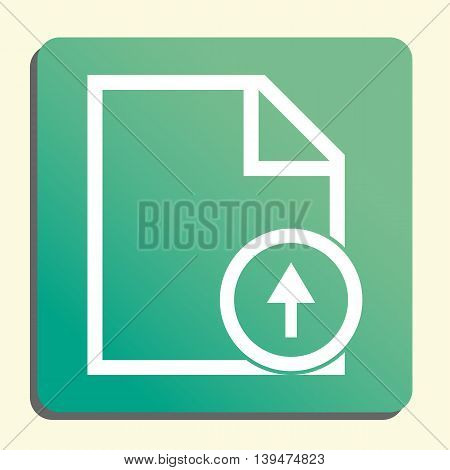 File Up Icon In Vector Format. Premium Quality File Up Symbol. Web Graphic File Up Sign On Green Lig