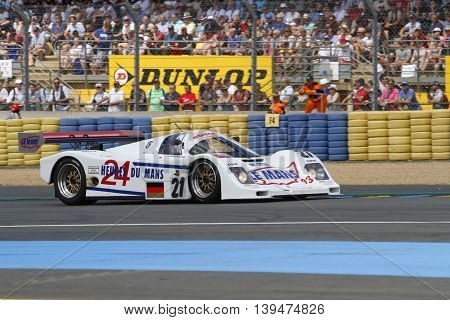 Le Mans, France, July 9, 2016 : Porsche 962 During Le Mans Classic On The Circuit Of The 24 Hours. N