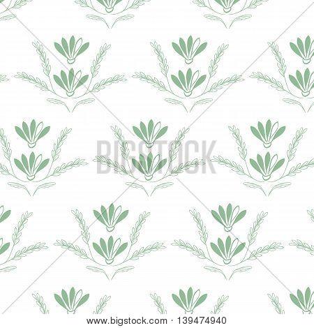 Linear art nature pattern background vector illustration