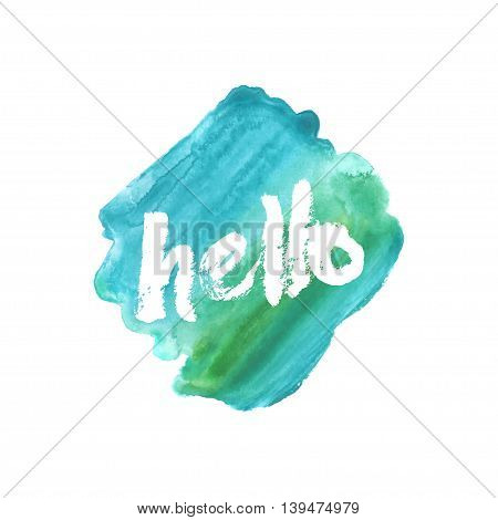 Hello. The hand drawn letters. Lettering and typographic design.