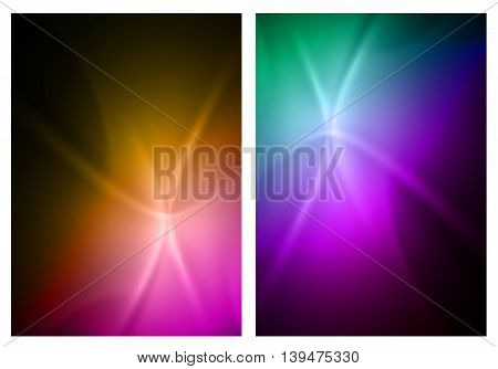 Abstract color background cover layout flyer easy editable