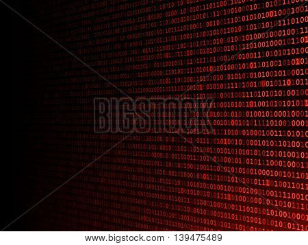 Red binary background fading to the left