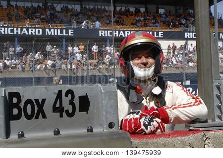Le Mans, France, July 10, 2016 : Driver At The Start Of Le Mans Classic On The Circuit Of The 24 Hou