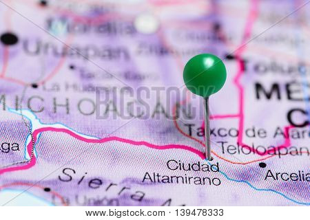 Ciudad Altamirano pinned on a map of Mexico