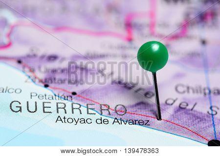 Atoyac de Alvarez pinned on a map of Mexico