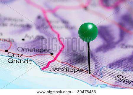 Jamiltepec pinned on a map of Mexico