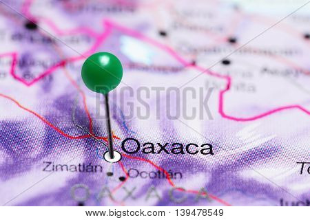 Oaxaca pinned on a map of Mexico
