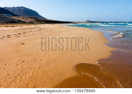 Ocean beach on Sao Vicente, Cape Verde