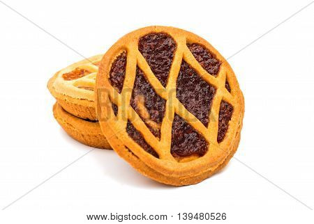 biscuit pie filling isolated on white background