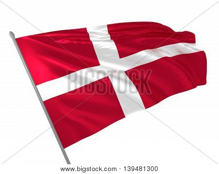 3d illustration of Denmark flag waving in the wind