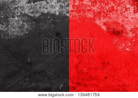Flag Of Aosta Valley, Italy, With A Vintage And Old Look