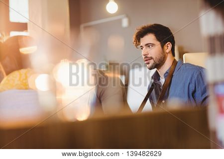 Graphic designer having a meeting in office