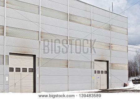 prospect of a modern building of the panels of the industrial plant
