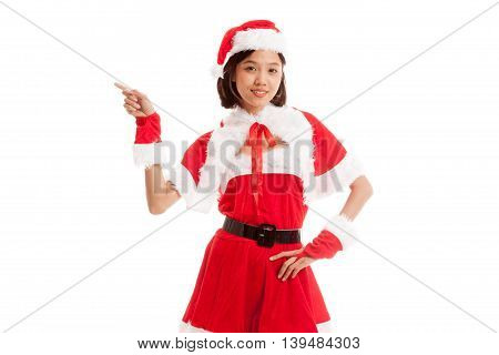 Asian Christmas Santa Claus Girl  Point To Blank Space
