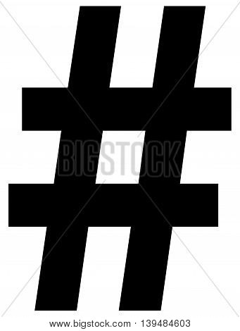 Hashtag Icon hashtag vector, sign symbol mathematical symbol